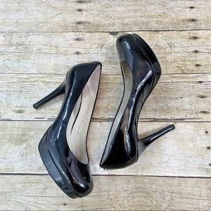 Michael Kors Black Patent Leather Heels Size 8